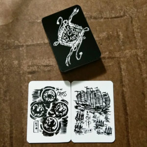 Fortune Inktober 2017 Lenormand cards - Cross and Ship