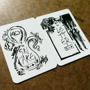 Fortune Inktober 2017 Lenormand cards - Snake and letter
